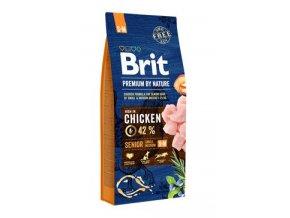 Brit Premium Dog by Nature Senior S+M 15kg