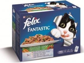 Felix Fantastic lahodný výběr se zeleninou v želé Multipack 12x100g