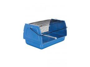 Přepravka pro ptáky a hlodavce 30x18x20cm plast modrá