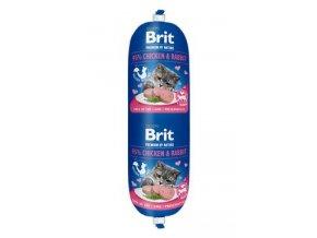 Brit Premium Cat by Nature Sausage Chicken&Rabbit 180g