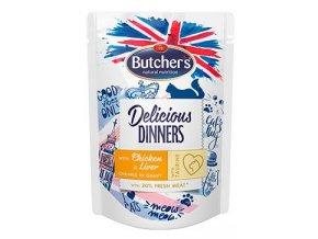 Butcher's Cat Class.Delic.Dinn. kuře+játra kapsa100g