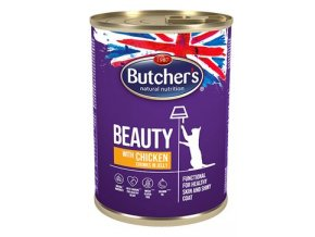 Butcher's Cat Funct. Beauty kousky kuřete v želé 400g