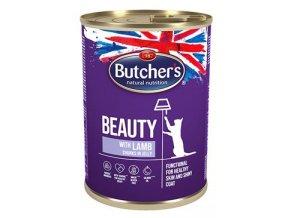 Butcher's Cat Beauty kousky jehněte v želé. 400g