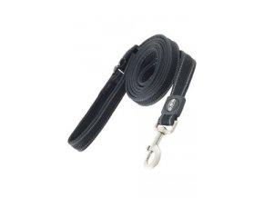 Vodítko BUSTER Airmesh reflexní L/XL 180cm/25mm černé