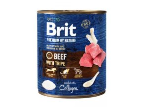 Brit Premium Dog by Nature konz Beef & Tripes 800g