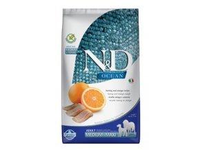 N&D OCEAN DOG Adult M/L Herring & Orange 2,5kg