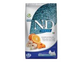 N&D OCEAN DOG Adult Mini Codfish&Pumpkin&Orange 2,5kg