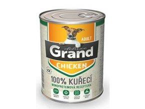 GRAND konz. deluxe pes drůbeží 400g