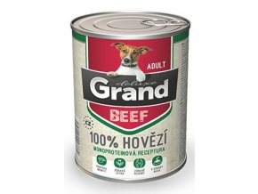 GRAND konz. deluxe pes 100% hovězí 400g