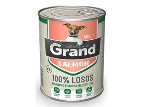 GRAND konz. deluxe pes losos adult 400g