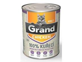GRAND konz. deluxe kočka drůbeží 400g