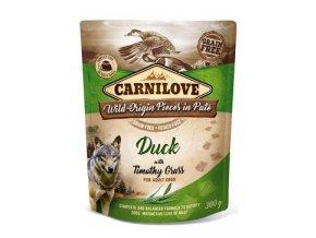 Carnilove Dog Pouch Paté Duck & Timothy Grass 300g
