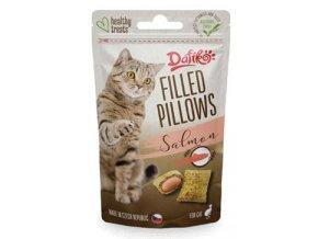 Dafíko plněné polštářky pro kočky lososové 40g