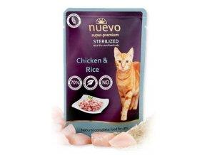 Nuevo kočka kapsa sterilized drůbeží s rýží 85g
