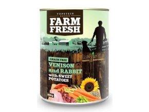 Farm Fresh Dog Venision&Rabit+Sweet Potatoes konz 800g
