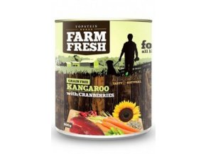 Farm Fresh Dog Kangaroo with Cranberries konz 400g