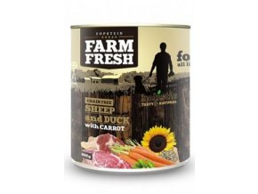 Farm Fresh Dog Sheep&Duck with Carrot konzerva 800g