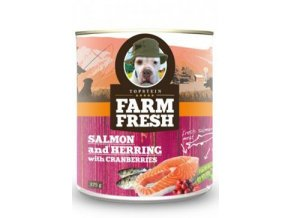 Farm Fresh Dog Salmon&Herring+Cranberries konzer 375g