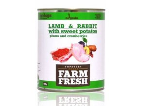 Farm Fresh Dog Lamb&Rabbit+Sw.Potatoes&Plum konz 800g