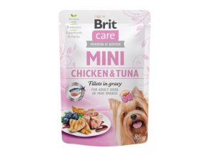 Brit Care Dog Mini Chicken&Tuna fillets in gravy 85g