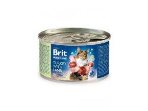 Brit Premium Cat by Nature konz Turkey&Lamb 200g