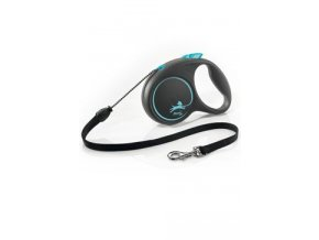 Vodítko FLEXI Black Design M lanko 5m/20kg modrá NEW