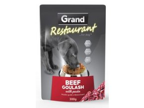 GRAND kaps. deluxe pes Restaur. 100% hovězí guláš 300g