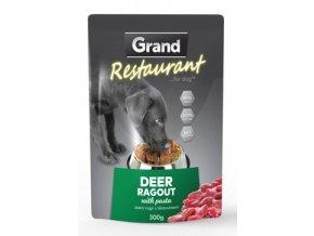 GRAND kaps. deluxe pes Restaur. 100% jelení ragú 300g