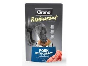 GRAND kaps. deluxe pes Restaur. 100% vepřov, mrkv 300g
