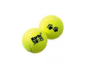 Hračka pes Tenisové míčky 2ks 6cm žlutá KAR