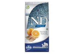 N&D OCEAN DOG Adult M/L Herring & Orange 12kg
