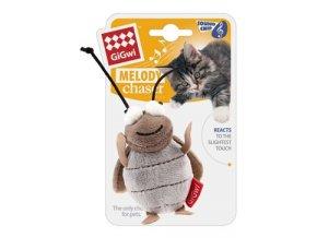 Hračka kočka GiGwi Melody Cvrček se zvukovým čipem