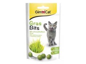 Gimpet kočka GRAS BITS tabl. s kočičí trávou 40g
