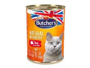 Butcher's Cat Natur.&Healthy s hovězím masem 400g