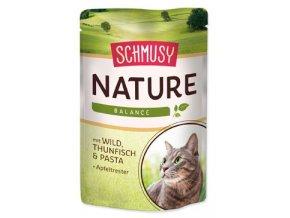 Schmusy Cat Nature Menu kapsa zvěřina+tuňák 100g