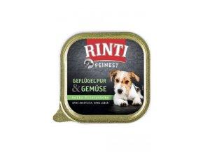 Rinti Dog Feinest vanička drůbež+zelenina 150g