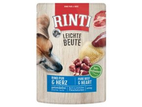 Rinti Dog Leichte Beute kapsa hovězí+kuře srdíčka 400g