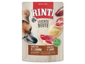 Rinti Dog Leichte Beute kapsa hovězí+jehně 400g