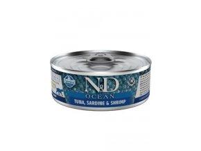 N&D CAT OCEAN Adult Tuna & Sardine & Shrimps 80g