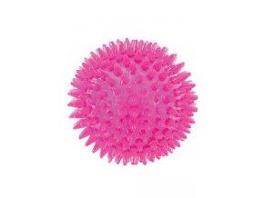 Hračka pes BALL SPIKE TPR POP 13cm s ostny růž Zolux