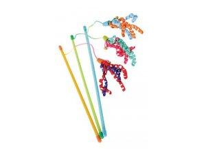 Hračka kočka udice Ribbon fishing mix barev Zolux
