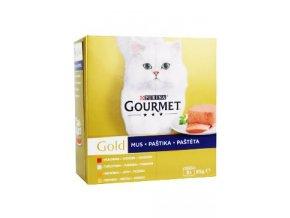 Gourmet Gold Mltp konz. kočka paštiky 8x85g