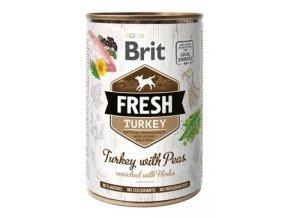 Brit Fresh Dog konz Turkey with Peas 400g