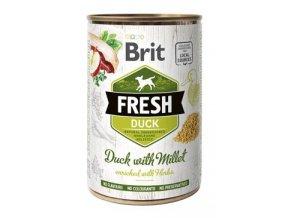Brit Fresh Dog konz Duck with Millet 400g