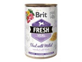 Brit Fresh Dog konz Veal with Millet 400g