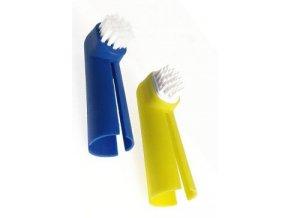 Kartáček zubní na prst pes KAR 2ks