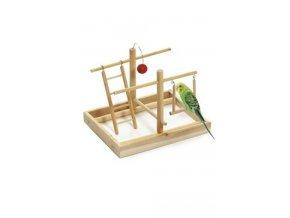 Hračka pták Hřiště 28x23x23cm dřevo KAR