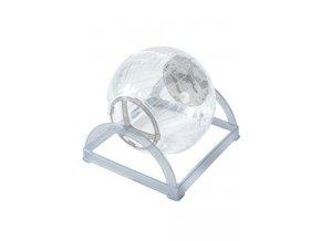 Hračka hlodavec Cvičná koule 2v1 šedá 18cm Zolux