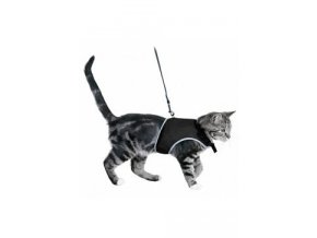 Postroj kočka vesta 36-54cm /1,20m černá TR 1ks