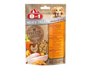 Pochoutka 8in1 Meaty Treats FD Chicken/Carrots 50g